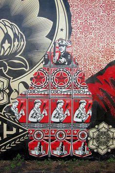Shepard Fairey Mural @ Wynwood Walls