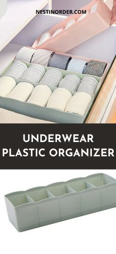 Organize your closet with these underwear plastic organizers #underwearorganization #closetorganization #nestinorder Plastic Organizer, Organizers, Underwear Organization, Dresser Organization, Organizing Ideas, Storage Boxes, Tips, Storage Crates, Dressing Table Organisation