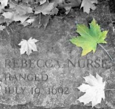 includes video The Salem Witch Trials - The True Story of Rebecca Nurse. You might recognize the character from The Crucible. Cemetery Headstones, Cemetery Art, Rebecca Nurse, Salem Mass, Maleficarum, Salem Witch Trials, American Literature, American History, Memorial Stones