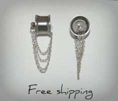 Hey, I found this really awesome Etsy listing at https://www.etsy.com/listing/129891362/dangle-stainless-steel-ears-plugs-double