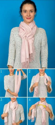8 Ways to complete your & with a scarf or pashmina - Celina S - - 8 Maneras de completar tu 'look' con una bufanda o pashmina 8 Ways to complete your & # look & # with a scarf or pashmina - Ways To Tie Scarves, Ways To Wear A Scarf, How To Wear Scarves, Diy Fashion, Ideias Fashion, Autumn Fashion, Fashion Tips, Modest Fashion, Dress Fashion