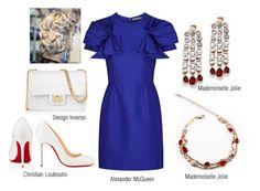 CUTE EVENING LOOK #mademoiselle_jolie_paris #Alexander_McQueen #Design_Inverso #christian_louboutin