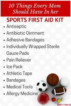 Whether you decide to buy a pre-made kit or come up with a custom one, every mom's sports first aid kit should have several basic supplies. ‪#‎TeamPuracynPlus‬ ‪#‎sponsored‬