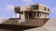 Imagen 3d render de viviendas para proceso venta de inmobiliaria mail: consultores@arqydis.cl