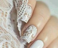 White Lace Nails