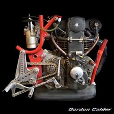 ◆ Visit MACHINE Shop Café ◆ (No. 104 ~ MOTO MORINI 250cc BIALBERO - HISTORIC 1963 GRAND PRIX ENGINE, by Gordon Calder, via Flickr)
