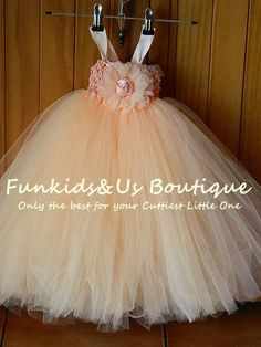 Baby Peach Tutu Dress- Peach Flower Girl Dress-Flower Girl Dress peach tutu dress- wedding Tutu | Kiosk Online