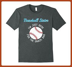 Mens Baseball Sister I'm Just Here for the Snack Bar T-Shirt 2XL Dark Heather - Relatives and family shirts (*Partner-Link)