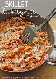 Skillet Lasagna {Lightened Up}