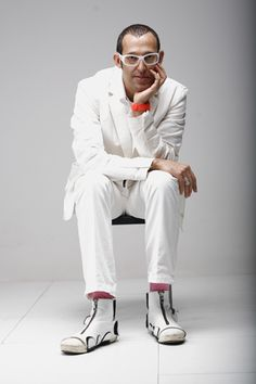 The next UnBeige Design Party will be held this Thursday night at the Karim Rashid Design Shop. Keep in mind that partying with Rashid could mean one [. Karim Rashid, Alexander Girard, Teds Woodworking, Modern Man, Eccentric, Design Awards, Cool Designs, Furniture Design, Normcore