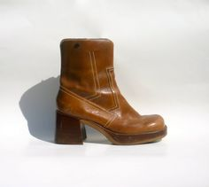 #90s #chunky #platform #boots / brown superchunk shoes by toasterhenry, $45.00