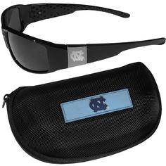 edda4a9c83ce N. Carolina Tar Heels Chrome Wrap Sunglasses and Zippered Carrying Case