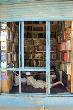 Library in Kabul, Afghanistan.   re-pinned by: http://sunnydaypublishing.com/books/