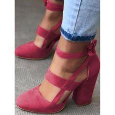 Suede Round Toe Chunky Heel Pumps Studded Heels, Red Heels, Pumps Heels, High Heels, Stiletto Pumps, Black Shoes, Chunky Heel Shoes, Pink Chunky Heels, Fashion Heels