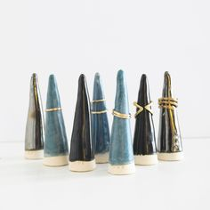 Keep your rings organized and stylish on your dressing table with these beautiful artistic ring cones by BDB.
