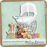 Printable Scrapbooking A Baby has Arrived Cluster 5 (PU/S4H) by Mistica Designs