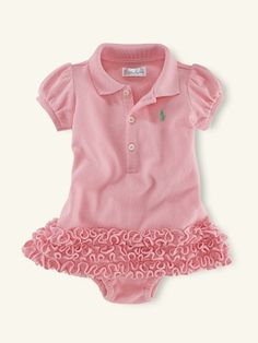 82efbbecc59ab Even a baby girl can have her favorite polo like daddy! Obsessed with Ralph  Lauren baby!