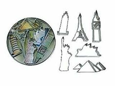 LANDMARKS Metal Cookie Cutter 6 Piece SET * RM-1875