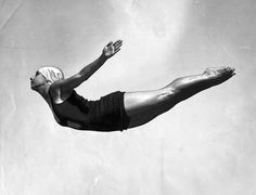 Diver Dorothy Poynton, gold medalist in the 1932 and 1936 Olympics
