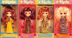 These were the original Blythe dolls that came out in 1972.  I had the dark haired one 2nd from the left