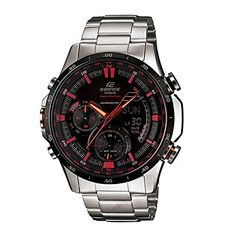 185e649a405a Casio Mens ERA300DB1AVDR Edifice Analog Chronograph Black Watch    Click  image to review more details