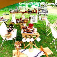 #camp #camping #キャンプ#outdoors #あおぞらカフェ#鹿ベンチ#ユニフレーム#snowpeak#dogsofinstagram #dog…
