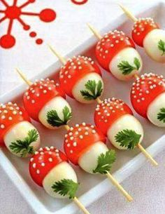 If you want to emphasize on creative and interesting touch , then look at our easy and fun appetizers and snacks recipes. Every kids party needs a fun and Cute Food, Yummy Food, Healthy Food, Food Decoration, Best Appetizers, Appetizer Ideas, Party Appetizers, Ladybug Appetizers, Mushroom Appetizers