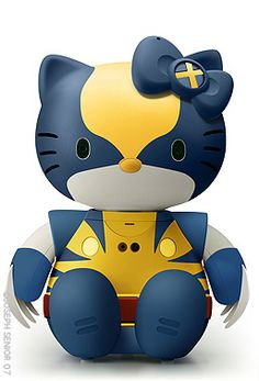 If Wolverine and Hello Kitty had a baby... That would be great. (Hello x-Kitty, via Flickr.)