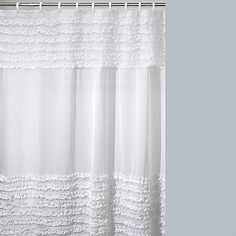 Shower curtain for guest bath
