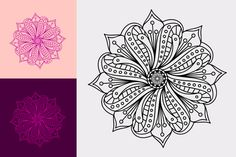 Beautiful Free Mandala Flower in Png, Svg and Affinity Designer files format.U can use this design in in print, cutter ploter, circuit and coloring page. Affinity Designer, Flower Mandala, Mandala Design, Coloring Pages, Vector Free, Tattoos, Flowers, Beautiful, Quote Coloring Pages