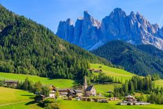 Val di Funes, Dolomiti Mountains, Italy jigsaw puzzle in Puzzle of the Day puzzles on TheJigsawPuzzles.com