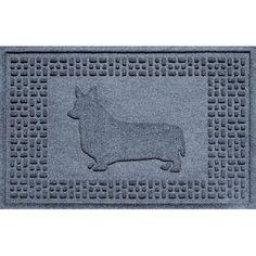 Bungalow Flooring Aqua Shield Corgi Doormat Color: Bluestone