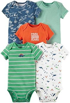 Carter's Baby Boys Multi-Pack Bodysuits 126g333, Assorted, 24 Months