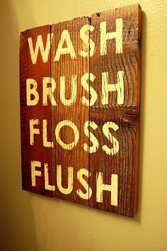 Bathroom Sign-- great for boys bathroom!!
