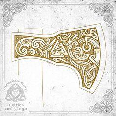 the mask of the god, valknut and the crow - design for axe ( final workflow, vector graphics) маска бога, валькнут и ворон - дизайн для топора (финал, рабочий процесс, векторная графика) #celtic #celticart #workflow #celticknot #ornaments #arzarz #axe #celticartlogo #Arzamastsev #siberia #doodle #celticdesign #knotwork #birds #viking #line #art #illustration #linework #vector #drawing #norse #workprocess #vikingaxe #vectorart #vikingart #celticbird #valknut #odin #ax