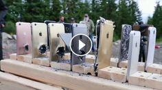 #iPhone vs #Galaxy - Bulletproof test 🔫🔫🔫