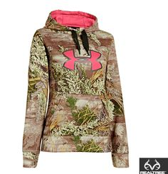 #New Under Armour Ladies Hoodie in Realtree Max-1 camo  #Realtreecamo