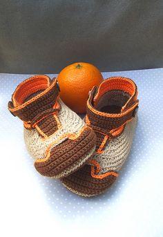 Nike oranje gehaakte booties