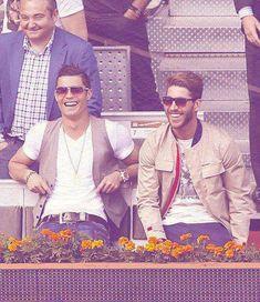 Cristiano Ronaldo  Sergio Ramos - Spanish boys (well, Ronaldo is Portuguese. So, Iberian peninsula boys)