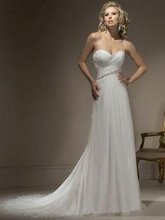 2013 New Style Sheath/Column Sweetheart Court Train Beach Chiffon Wedding Dresses #AUSA0254586 - Wedding Dresses 2013 - Wedding Dresses