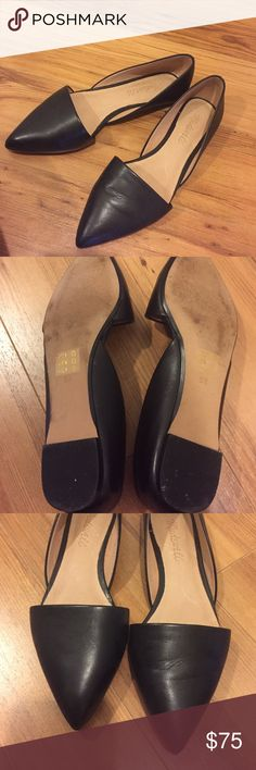 Madewell Lydia Flat in Leather Never worn, without box. I bought them new looking a little dirty on the soles, from trying on I presume. I have not worn them out though! So cute but just not wearing them! Madewell Shoes Flats & Loafers