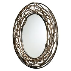 I pinned this Rustico Wall Mirror from the Country Bath event at Joss and Main! I could make this myself...lots of grapevine.
