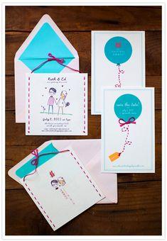 Cute wedding invitation.
