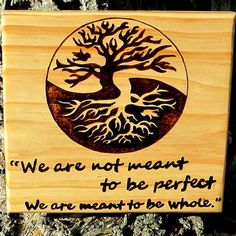 Yin Yang Wood burned Tree of Life Bird by ForestofNature on Etsy