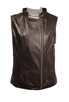 """Product review for Paccilo PLUS & ALL SIZE Women 4091 Leather Vest Open Bottom China Collar Zip Front.  - Lambskin, Stand Up Collar, Zip Front. Not all leather is the same. When vendors say or state, """"leather or genuine leather"""", they generally use """"pig skin"""", which is the worst quality of leather and therefore inexpensive. If you choose to buy """"leather or genuine..."""