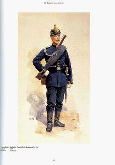 German; 14th Baden Foot Artillery Regiment, Unteroffizier, c.1910. Raised 1893,Home Depot; Mulheim