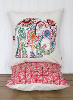 Elephant Pillow 12x12 Decorative Throw Pillow by JustAnimalPillows, $22.00