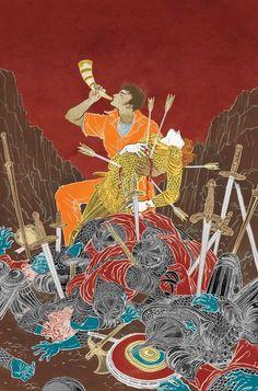 The Unwritten - Inside Man: The Song of Roland (Issue) Yuko Shimizu, Vertigo Comics, Type Illustration, Illustrations And Posters, Conceptual Art, Comic Artist, Art World, Cover Art, Illustrators