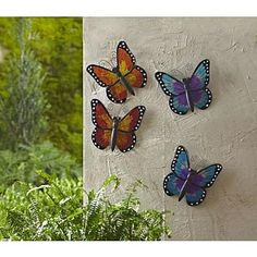 Essential Garden Small Butterfly Wall Décor- Yellow