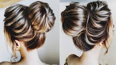 In this video I will show how to make a simple bun with a donut using texture. Not everyone likes slicked smooth hair with a bagel. Donut Bun Hairstyles, Easy Hairstyles, Wedding Hairstyles, Big Messy Buns, Big Bun, Simple Bun, Easy Bun, Beauty Courses, Beauty Hacks
